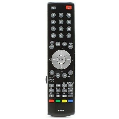 Replacement Remote Control For TV Toshiba REGZA 26C3030D 26C3030DB 32C3030DB • 7.70£