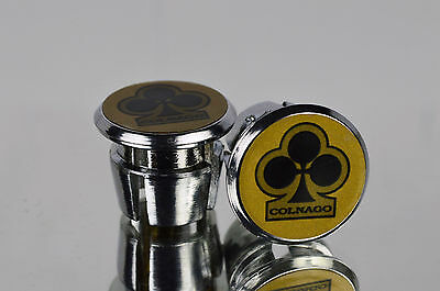 $15 • Buy NOS COLNAGO Club Handlebar End Plugs, Bar End Caps, Endcaps Vintage Gold New