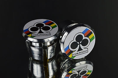 $9.50 • Buy NOS COLNAGO Club Handlebar End Plugs, Bar End Caps, Endcaps Vintage White New