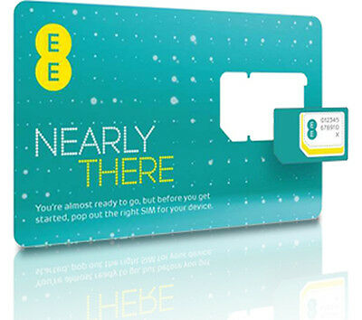 £0.99 • Buy Brand New EE Pay As You Go Nano SIM Card For IPhone 5, 5s, 5c,6, 6s, 7, 7Plus X
