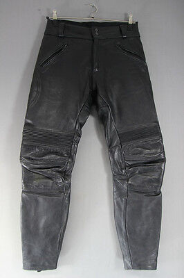 £29 • Buy Classic Black Leather Biker Trousers: Waist 30 Inches/inside Leg 31 Inches