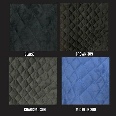 QUILTED SUEDE FABRIC Soft Furnishings Upholstery Insulation Numnahs Automotive • 13.99£