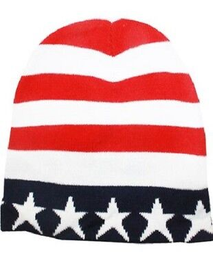 3021d37662d7 US American Flag Beanie Hat USA STARS AND STRIPES • 8.95$