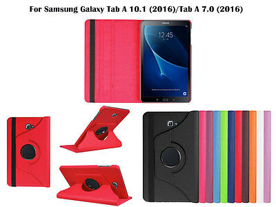 AU2.50 • Buy For Samsung Galaxy Tab A 10.1  /7.0  Screen Protector/ Rotating PU Leather Case