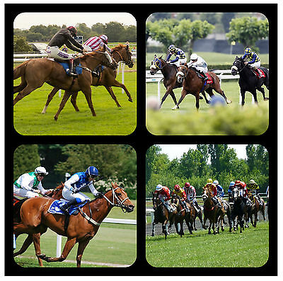 £7.99 • Buy Horse Racing - Fun Novelty Souvenir Coasters - Easy Clean / Sports / New / Gifts