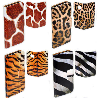 AU14.98 • Buy For OPPO Series - Animal Fur Theme Print Wallet Mobile Phone Case Cover