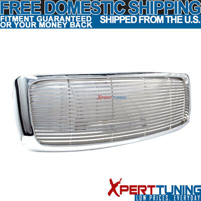$82.99 • Buy Fits 02 03 04 05 Dodge Ram 1500 2500 3500 Chrome Front Hood Grill Grille