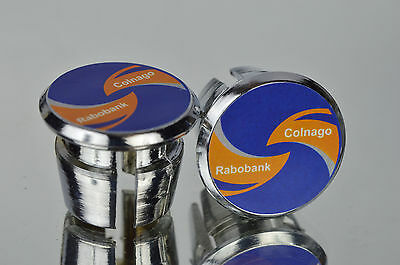 $15 • Buy New Colnago Team Rabobank Handlebar End Plugs Bar Caps Endstopfen Lenkerstopfen