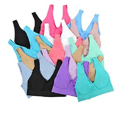 £9.49 • Buy PACK OF 3 Seamless Comfort Bra Sports Style Crop Top Vest Shapewear Stretch