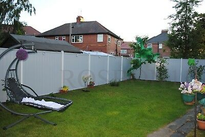 Pvc Plastic Fence Panels With Posts Reinforced With Metal Profile Garden Fencing • 107.50£