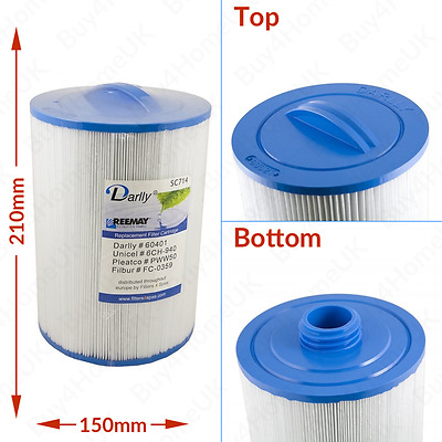 1 X Superior Spas/Miami Spas Hot Tub Filter PWW50 6CH-940 - SC714 • 24.30£