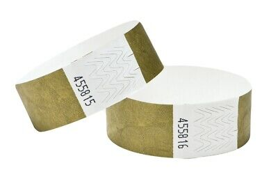 £2.99 • Buy Tyvek Wristbands Self Adhesive Security Sequential Numbered For Event Waterproof