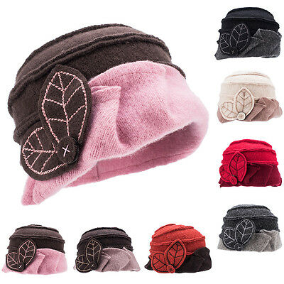 Ladies Cloche Hat Soft Warm Wool 1920s 30s Downton Abbey Style Winter A375 • 9.99£