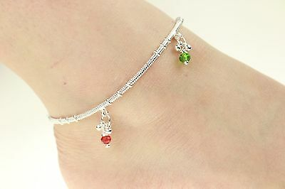 £5.99 • Buy Stunning Anklet Silver Coloured Anklet Chain Payal Bollywood Single Or Pair