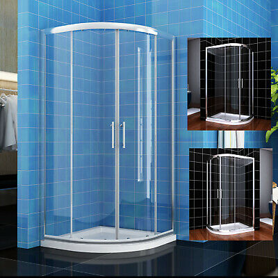 Quadrant Shower Enclosure And Tray Walk In Corner Cubicle Glass Screen Door • 102.19£
