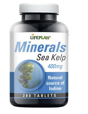 View Details Lifeplan SEA KELP 400mg - Rich In Minerals & Iodine 280 Tablets • 5.65£