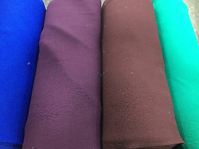 £4.49 • Buy RIBBING FABRIC Stretch Knit Trimming 4 COLOURS Cuffs Garments Chunky Thick