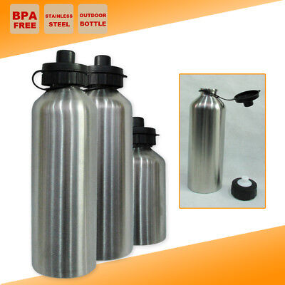 AU12.95 • Buy Stainless Steel BPA FREE Water Bottle Camping Outdoor Sport Training Kettle Cup