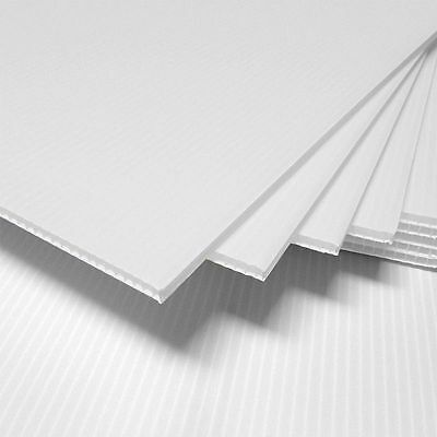 £20.17 • Buy (3 Pack) 4mm White 24  X 48  Corrugated Plastic Coroplast Sheets Sign Vertical^