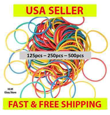 $0.99 • Buy  50 - 500 PCS SMALL HAIR BRAID RUBBER BANDS MULTI COLOR MIXED PONYTAIL No Black