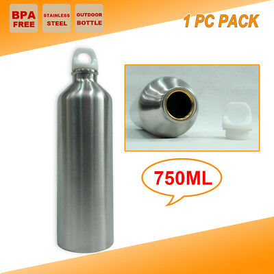 AU13.95 • Buy 1x Stainless Steel Office Gym Water Bottle Camping Cycling Sport Training Kettle