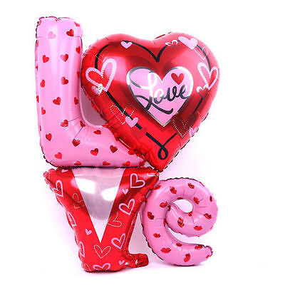 Love Letter Foil Balloons Wedding Party Decoration Valentines 36 Inch (81x 91cm) • 1.59£