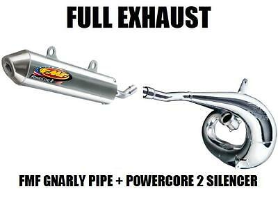 $388.90 • Buy Fmf Gnarly Full Pipe Exhaust And Powercore 2 Silencer 2004 Kawasaki Kx250