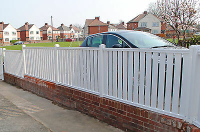 Picket Pvc Plastic Fence Panels Reinforced With Metal Profile Garden Fencing   • 75.70£