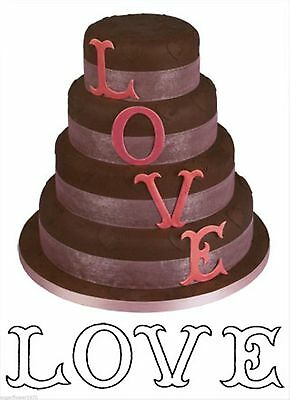 £7.60 • Buy LOVE L O V E Large Letters Patchwork Sugarcraft Cutters  NEXT DAY DESPATCH
