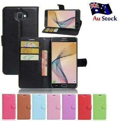 AU6.59 • Buy Wallet Leather Flip PU Case Cover For Samsung Galaxy J7 Prime + FREE Protector