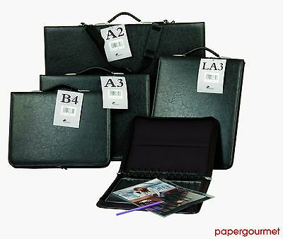 £44.99 • Buy Art Portfolio With Ring Binder Mechanism LEATHER Look (A4, A3, A2, A1) Ref- P39.