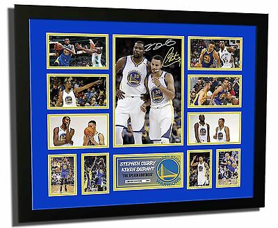 AU94.99 • Buy Kevin Durant & Stephen Curry 2016/2017 Signed Limited Edition Framed Memorabilia