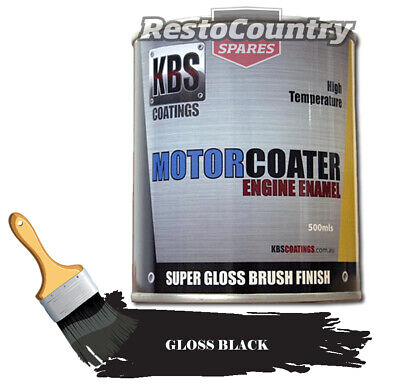 AU74.90 • Buy KBS Motor Coater Engine Enamel 500mls GLOSS BLACK High Temperature Paint