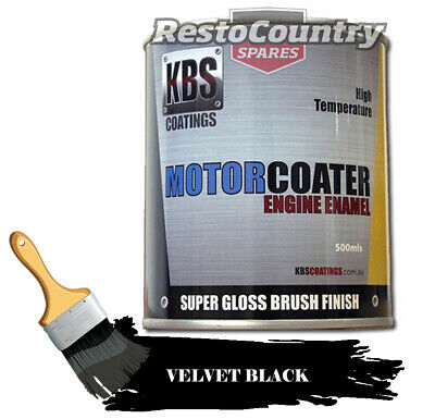 AU74.90 • Buy KBS Motor Coater Engine Enamel 500ml VELVET BLACK Holden Ford V8 High Temp Paint