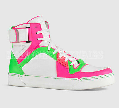a07d3f6803e  865 Gucci Mens Sneakers Neon Leather High Top Basketball Logo 11g 12 45.5  • 289.00