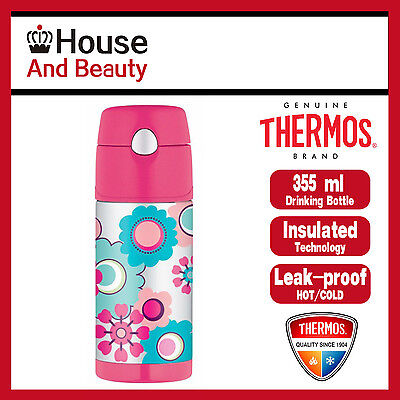 AU26.99 • Buy NEW Thermos Funtainer S/Steel Vacuum Insulated Drink Bottle 355ml Flower