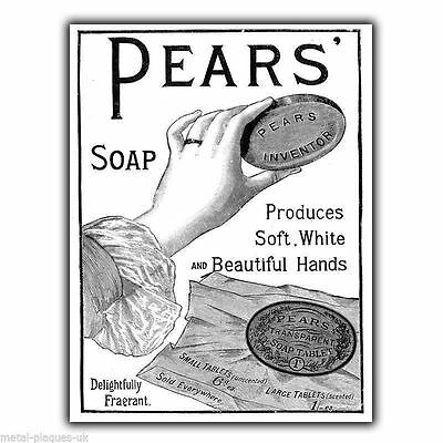 £4.45 • Buy PEARS SOAP 1910 Vintage Retro Old Advert METAL WALL SIGN PLAQUE Poster Print