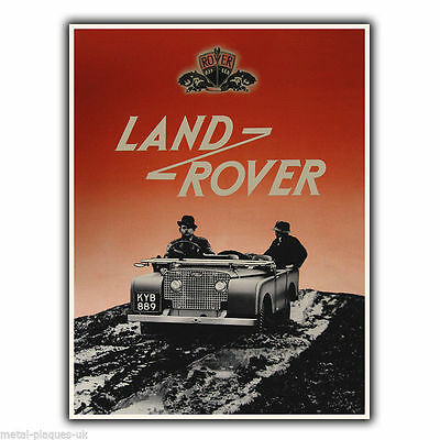Land Rover Vintage Retro Old Advert METAL WALL SIGN PLAQUE Poster Print • 4.95£