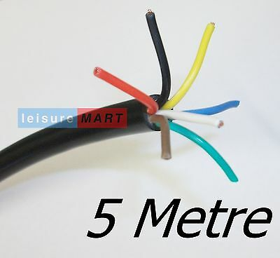 AU16.74 • Buy 5 Metres Of Trailer Lighting Cable 7 Core X 0.65mm²