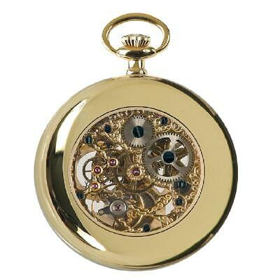 £354.45 • Buy Rapport Oxford Mechanical Skeleton Moon Phase Pocket Watch Gold Plated