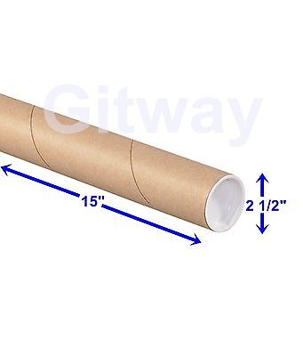 $62.21 • Buy 2 1/2  X 15  Cardboard Poster Shipping Mailing Mail Packing Postal Tube 34 Tubes