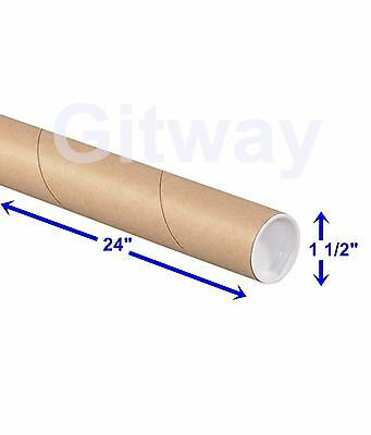 $69.95 • Buy 1 1/2  X 24  Cardboard Poster Shipping Mailing Mail Packing Postal Tube 50 Tubes