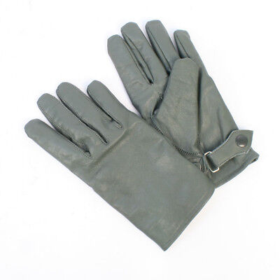 4558e11138786 German Luftwaffe Army Lined Grey Leather Gloves TG1096 • 18.57$