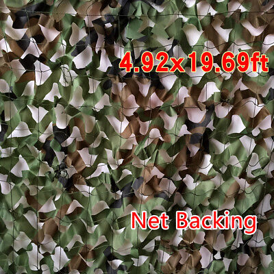 $20.90 • Buy 20 X 5FT Woodland Leaves Military Camouflage Net Hunting Camo W/ String Netting