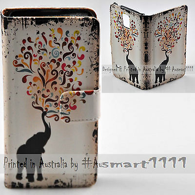 AU14.98 • Buy For OPPO Series - Elephant Colourful Swirl Print Wallet Mobile Phone Case Cover