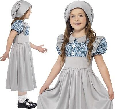 £13.99 • Buy Childrens Girls Fancy Dress Victorian School Girl Costume Kids Childs Outfit New