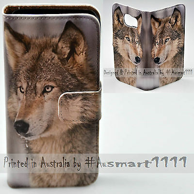 AU14.98 • Buy For Sony Xperia Series - Snow Grey Wolf Print Wallet Mobile Phone Case Cover