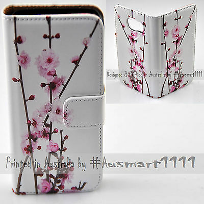 AU14.98 • Buy For Samsung Galaxy Series Cherry Blossom Print Wallet Mobile Phone Case Cover