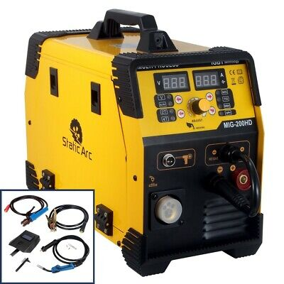 Mig 200a Inverter Dc Welder 3-in-1 Mma Tig Gas Gasless Arc Spool Gun Welding  • 249.99£