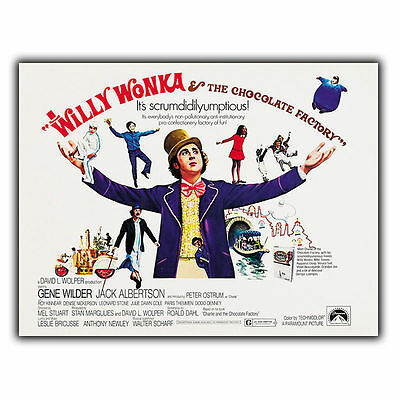 £4.95 • Buy Willy Wonka Charlie Chocolate Factory METAL SIGN WALL PLAQUE Film Advert Poster
